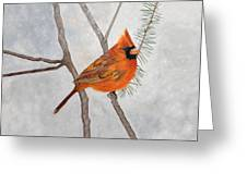 Fire On Ice Greeting Card