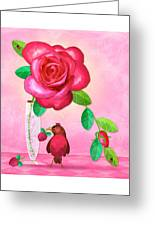 R Is For Rose And Robin Greeting Card
