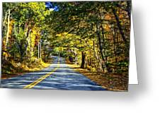 Autumn Paved Greeting Card