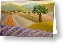 Lavender Sundown Greeting Card