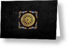 Ancient 12-spoked Gold Dharmachakra - The Wheel Of Dharma Greeting Card