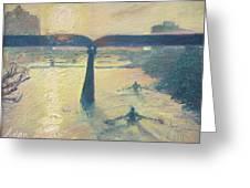 Sunrise Rowers On Lady Bird Lake Austin Greeting Card