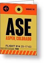 Ase Aspen Luggage Tag I Greeting Card