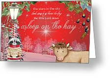 Asleep On The Hay Greeting Card
