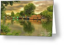 At Home On The River Greeting Card