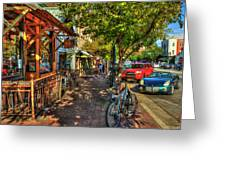College Town Athens Georgia Downtown Uga Athens Georgia Art Greeting Card