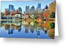 Atlanta Reflected Greeting Card