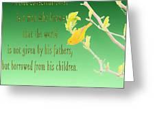 Audubon Warbler Quote Greeting Card