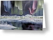 Aurora Borealis Greeting Card by Deleas Kilgore
