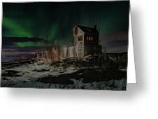 Aurora Borealis Over Harstad Greeting Card