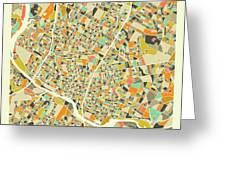 Austin Map 1 Greeting Card