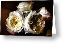 Austin Roses Notan Greeting Card