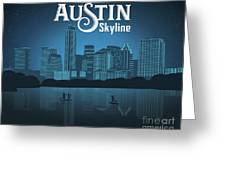 Austin Texas Skyline Greeting Card