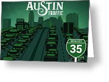 Austin Traffic Greeting Card