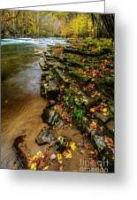 Autumn At Cherry Falls Elk River Greeting Card
