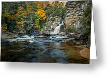 Autumn At Linville Falls - Linville Gorge Blue Ridge Parkway Greeting Card