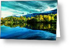 Autumn Beauty Lakeside Greeting Card
