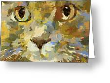 Autumn Cat Greeting Card