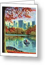 Autumn Central Park Greeting Card