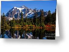 Autumn Colors With Mount Shuksan Greeting Card