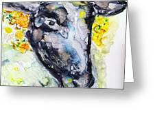 Autumn Crown Sheep Greeting Card by Monique Faella