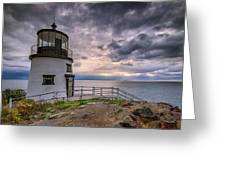 Autumn Morning At Owls Head Greeting Card