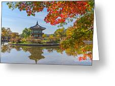 Autumn Of Gyeongbokgung Palace In Seoul Greeting Card