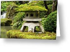 Autumn, Pagoda, Japanese Garden Greeting Card