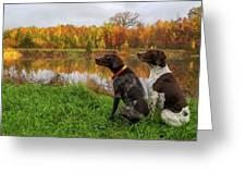 Autumn Pondering Greeting Card