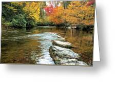 Autumn River Reflections Greeting Card by Claire Turner