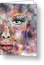 Autumn - Woman Abstract Art Greeting Card