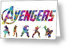 Avengers Team Greeting Card