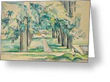 Avenue Of Chestnut Trees At The Jas De Bouffan  Greeting Card