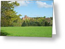 Ayton Castle From South, Berwickshire Greeting Card