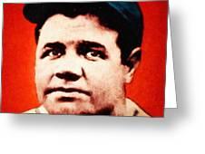 Babe Ruth, Portrait Greeting Card