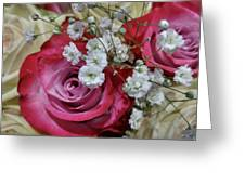Baby's Breath And Roses Greeting Card