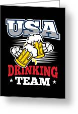 Bachelor Party Usa Drinking Team Beer Party Cheers Gift Greeting Card