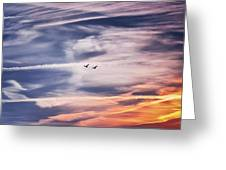 Back To The Sky Greeting Card