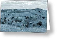 Badlands Cloud Shadows Greeting Card