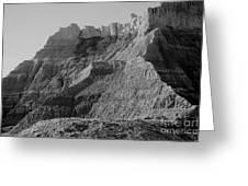 Badlands South Dakota Black And White Greeting Card