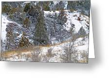 Badlands Winter Greeting Card