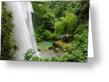 Baiyun Waterfall Greeting Card by William Dickman