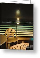 Balcony On The Pacific Oceanside California  Greeting Card
