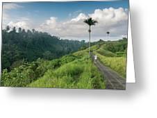 Bali Pathway Greeting Card