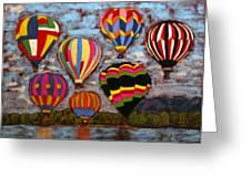 Balloon Family Greeting Card