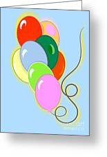 Balloons Of Loose Colors Greeting Card
