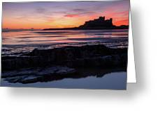 Bamburgh Castle Bam0031 Greeting Card