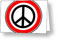 Ban The Bomb Road Sign Greeting Card