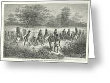 Band Of Captives In The Village Of Mbame Greeting Card