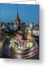 Bangkok Traffic Circle Greeting Card